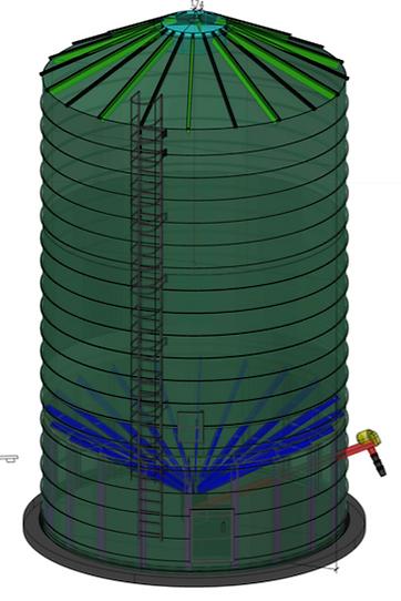 silo spiral for pellet
