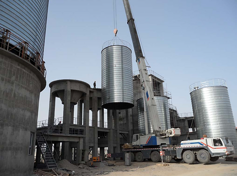 spiral silo for cement