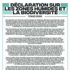 Déclaration sur les zones humides et la biodiversité, Tokyo 2020
