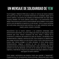 Un mensaje de solidaridad de YEW para BLM