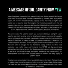 A Message of Solidarity from YEW for BLM