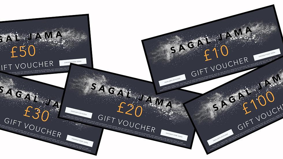 Sagal Jama Gift Voucher's £10-£100