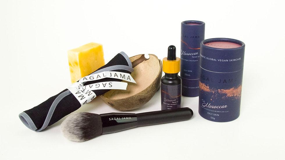 The Moroccan Jumbo Pamper Kit - Oily Skin