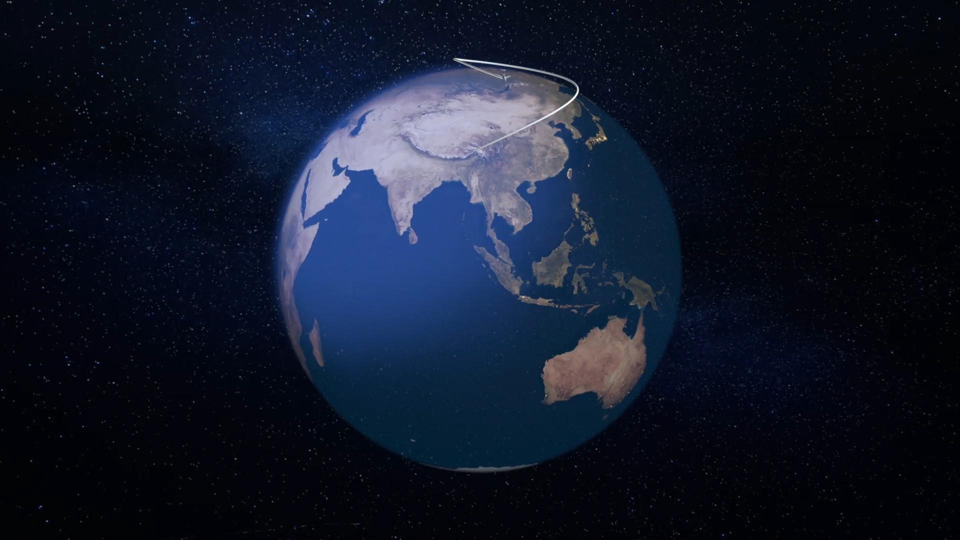 02. One More Orbit Flight Path