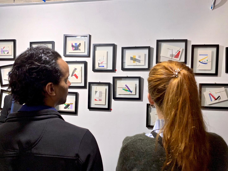 Installation view: Artwork Series Nos. 1 & 2