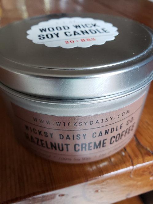 "5.3 oz. ""Wood Wick"" Travel Tin Candle"