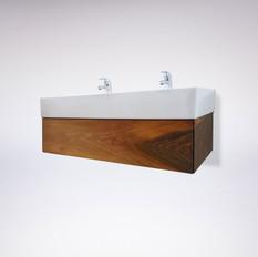Waschtisch Schublade / Nuss