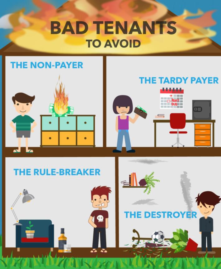 Bad Tenants to avoid