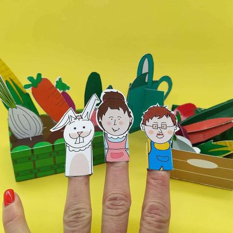 משחק תיאטרון בובות אצבע