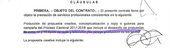 objeto de contrato xm del 26 de enero de