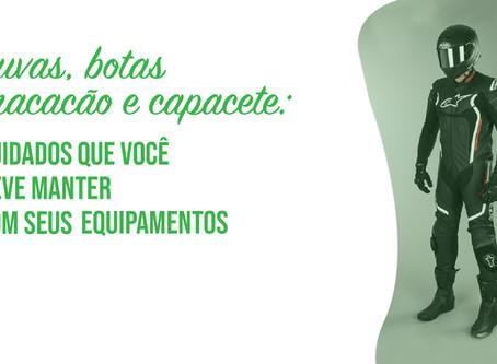 Luvas, botas, macacão e capacete: cuidados que você deve manter com seus equipamentos