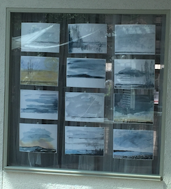 Watercolor in a window