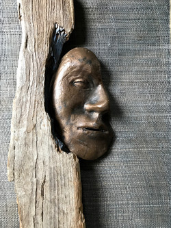 Ansikte, brons
