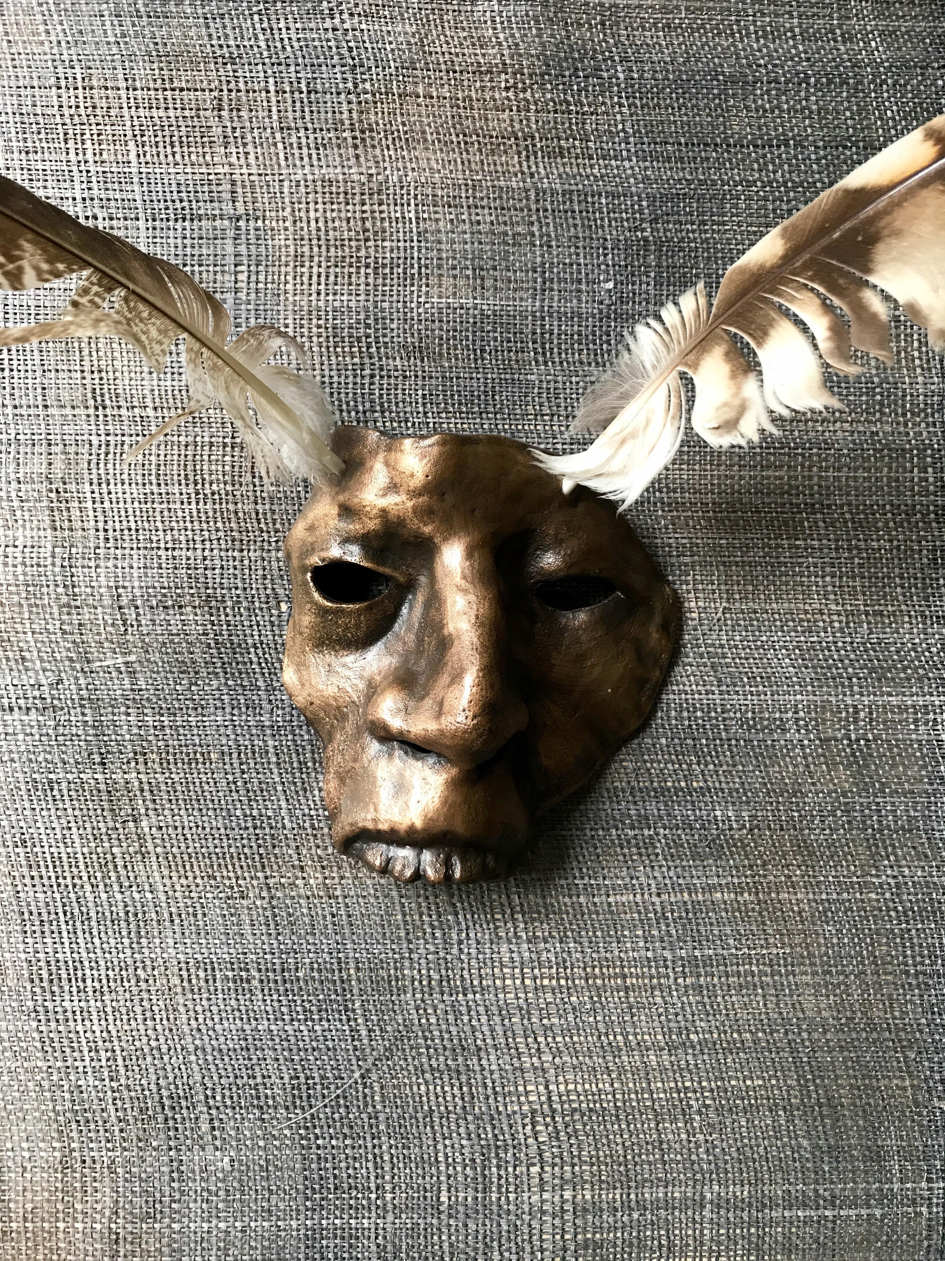 Mask 1, brons
