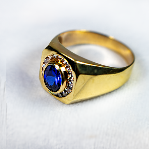 Sapphire Halo Ring - Size 13.png