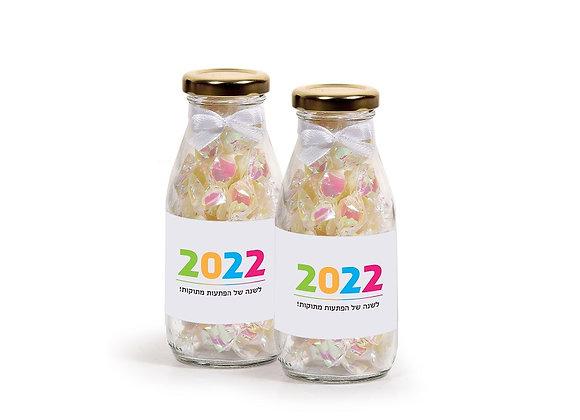 בקבוק זכוכית מתוק לשנה החדשה