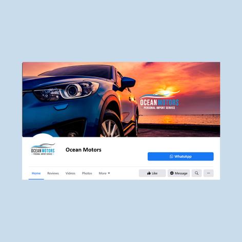 פרופיל וקאבר לפייסבוק - חתימה למייל - Ocean Motors