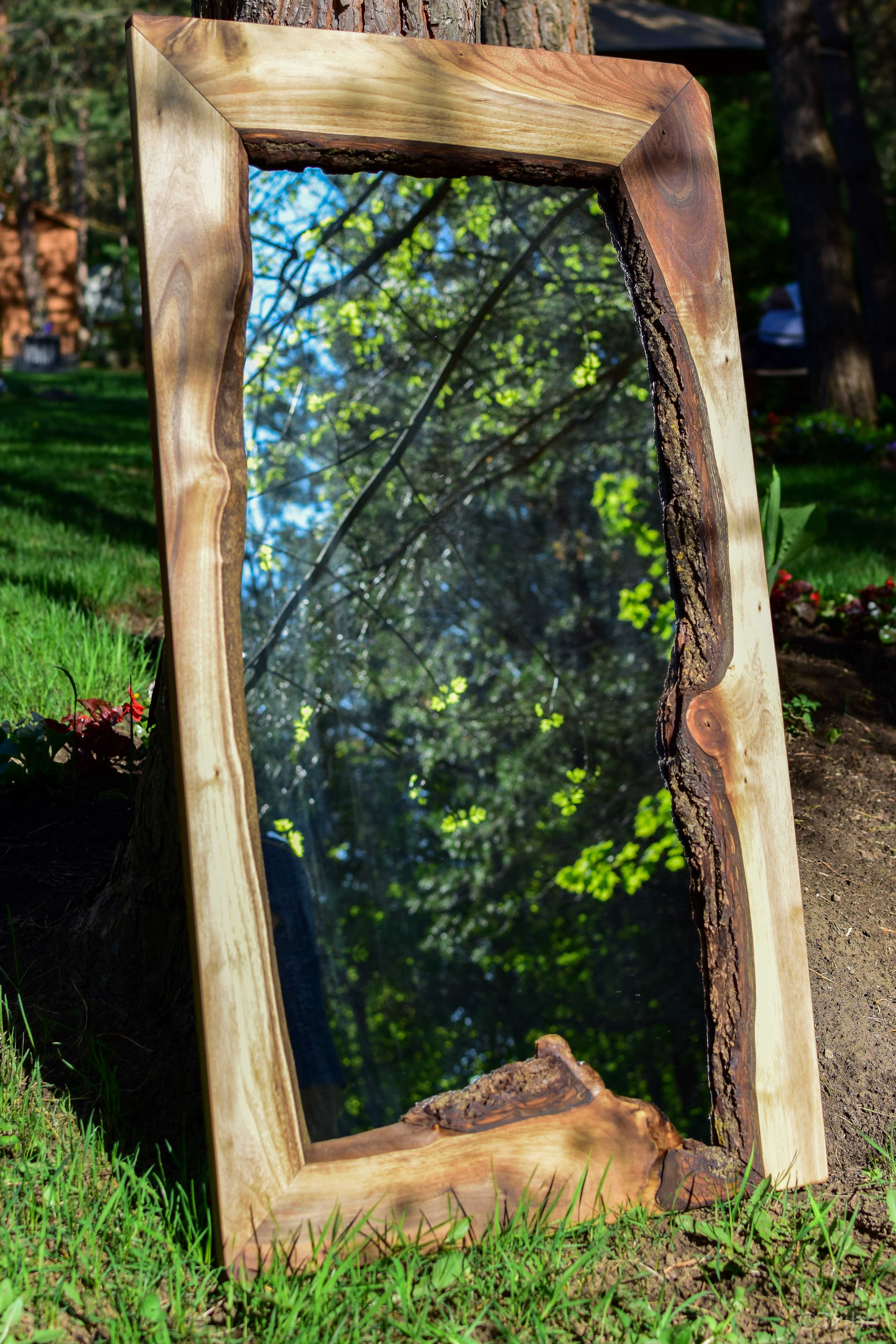 **SOLD** Walnut mirror pic #2