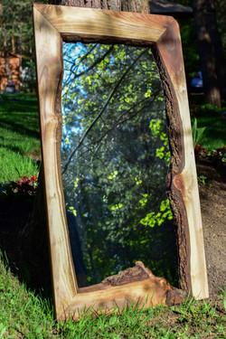 **SOLD** Walnut mirror pic #2