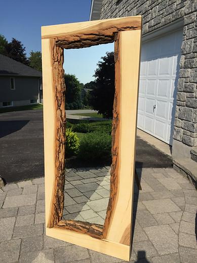 Maple hardwood floor mirror