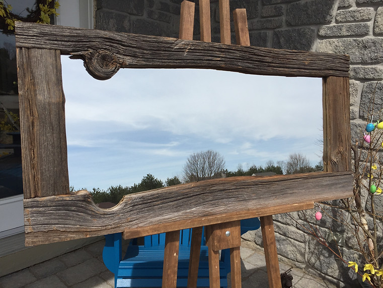 Barn board mirror