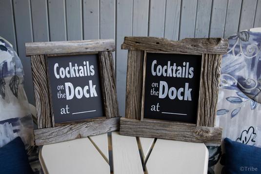 Fun drink chalkboards