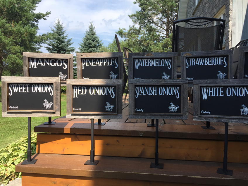 Country Produce individual signs
