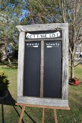Cottage list sign