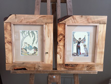 Spalted-maple-frames