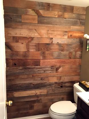 Brown tone bathroom wall