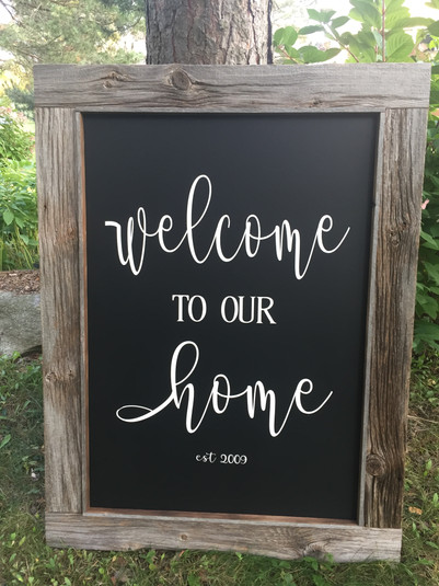 Very large custom home sign