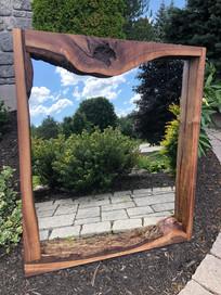 Black walnut mirror