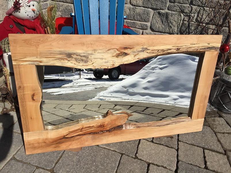 Maple hardwood mirror