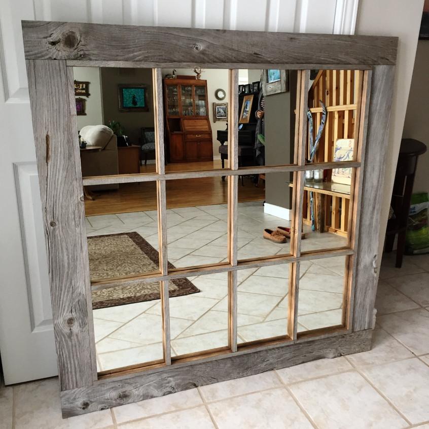 Picture frame window mirror