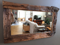 Clear coated mirror