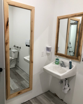 Maple commercial bathroom