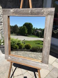 Vanity barn board mirror