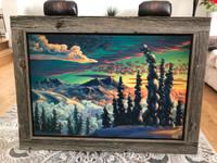 Barn board canvas frame