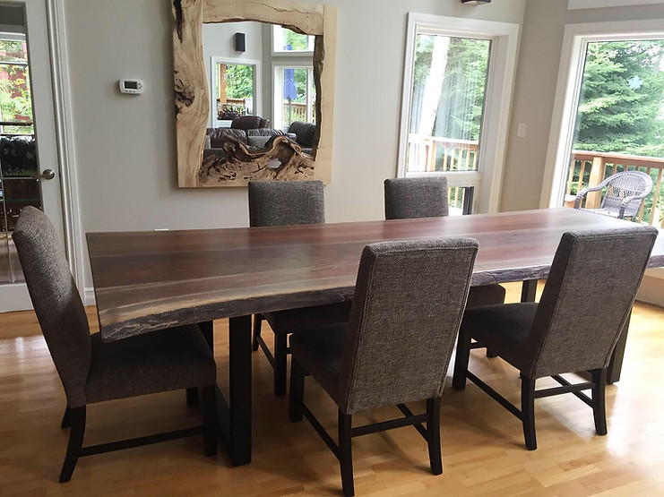 Table and mirror, both made by Rustic Wo