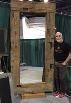 Very large 7.5 ft beam mirror