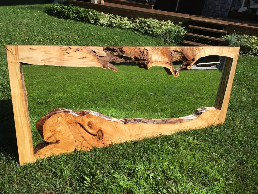 "2"" thick maple art piece"