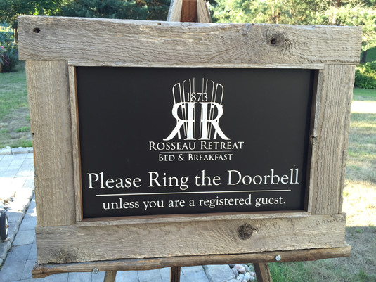 Custom two sided business sign