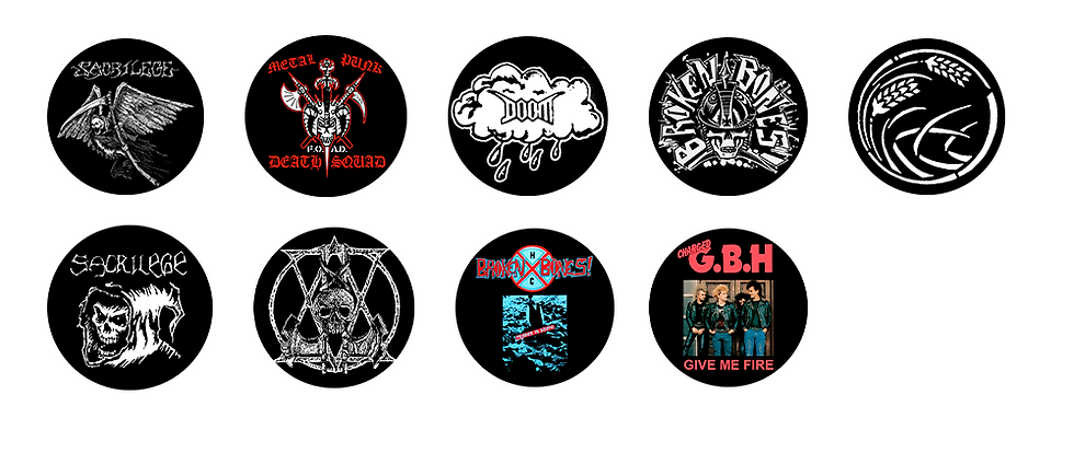 Crust Punk Pins 37mm