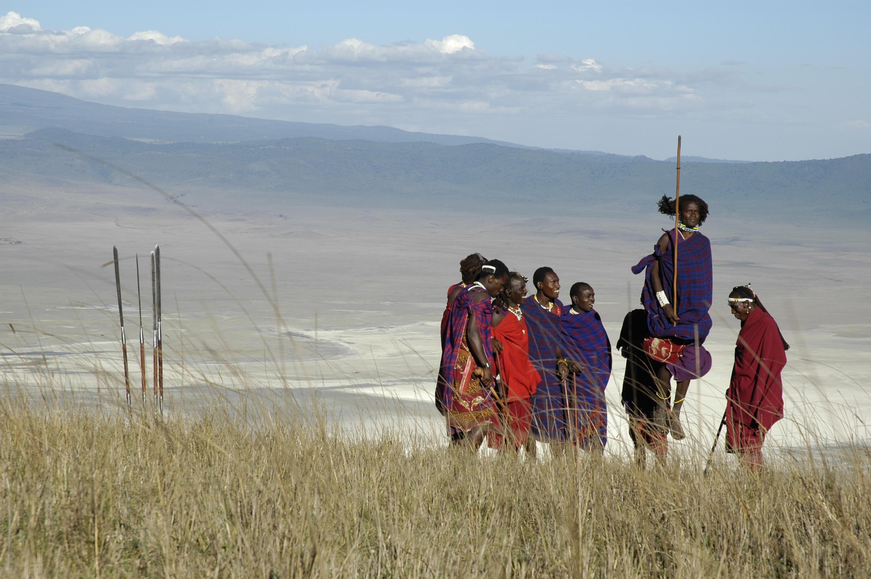 Jumping with the Maasai, Ngorongoro