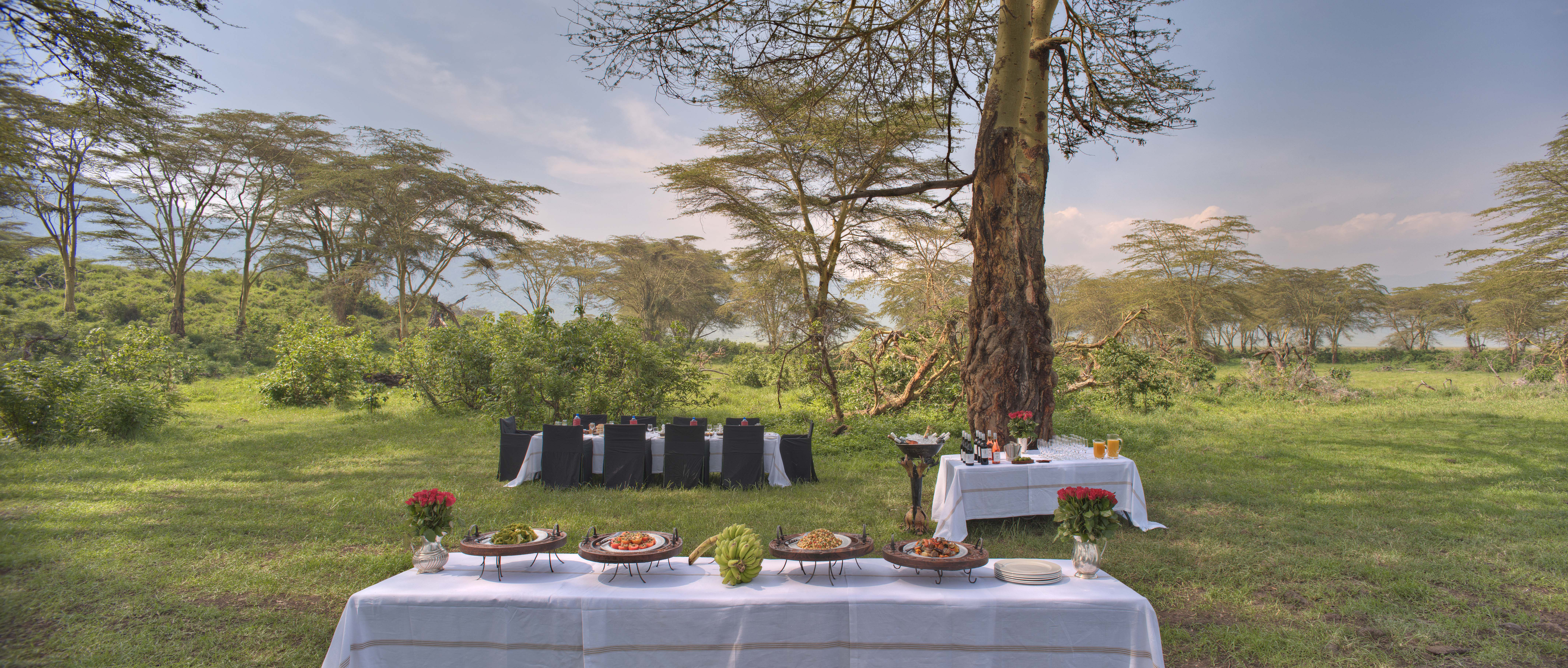 Ngorongoro Crater lodge_crater floor banquet