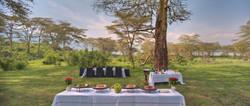 Ngorongoro Crater lodge_crater floor banquet