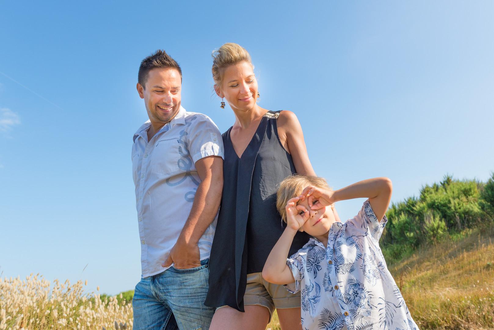 Famille sur la dune