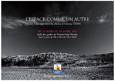 Affiche de l'expo photo L'Espace comme un autre realisee par Antoine Tatin