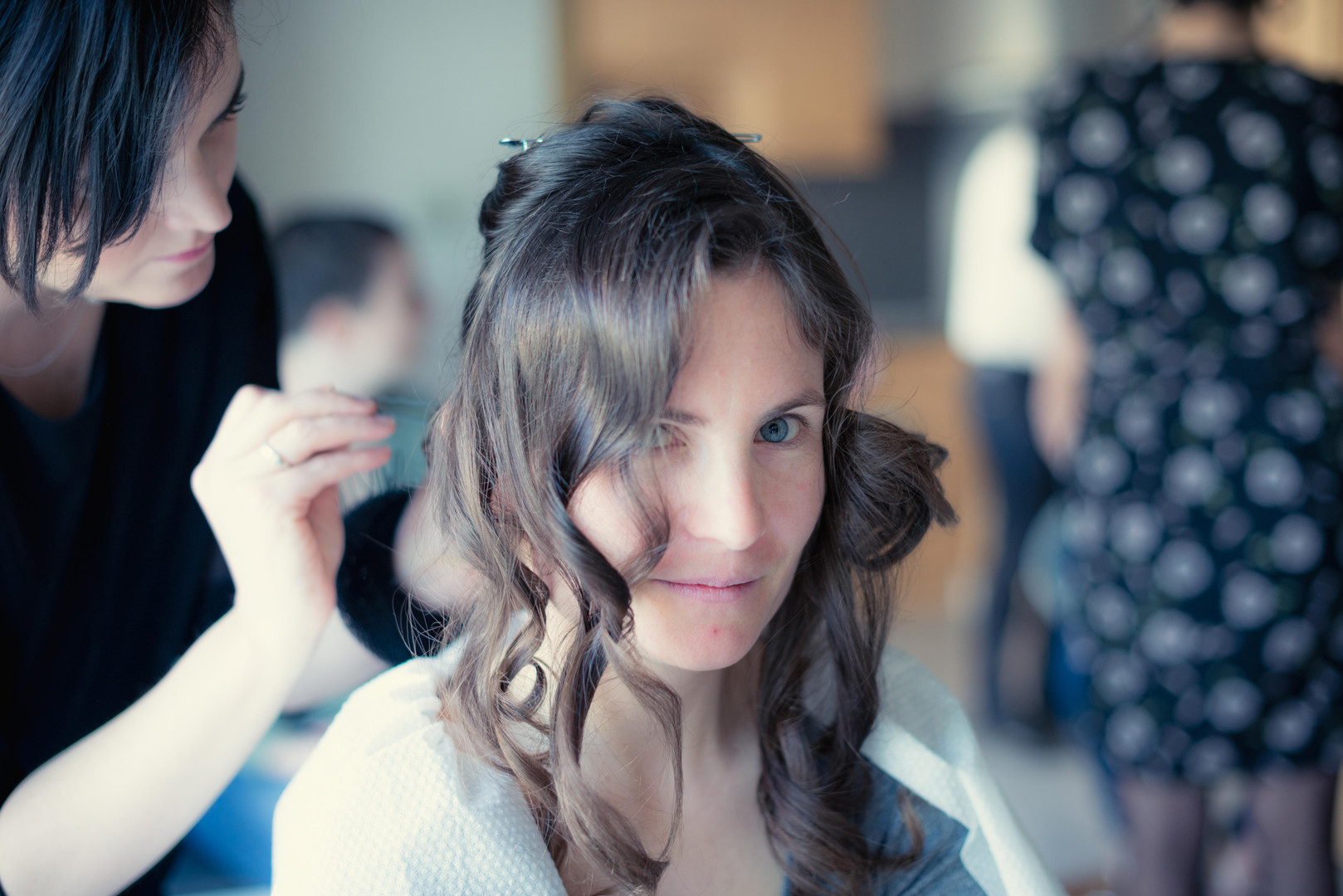 Seance de coiffage