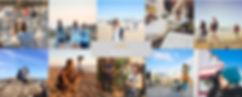 Mosaique d'images montrant plusieurs groupes de personnes en train d'apprendre la photo aux Sables d'Olonne pendant un stage